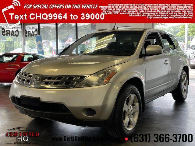 2005 Nissan Murano for sale at CERTIFIED HEADQUARTERS in Saint James NY