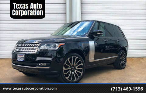 2013 Land Rover Range Rover for sale at Texas Auto Corporation in Houston TX