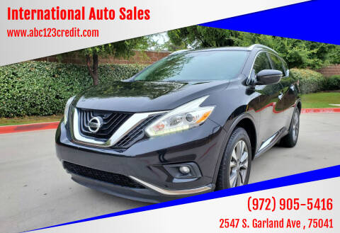 2016 Nissan Murano for sale at International Auto Sales in Garland TX