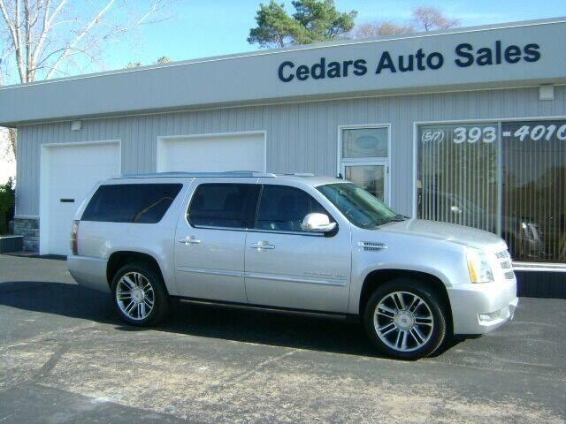 2013 Cadillac Escalade ESV for sale at Cedar Auto Sales in Lansing MI