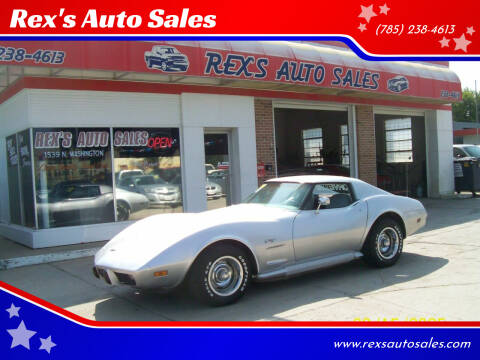 1977 Chevrolet Corvette for sale at Rex's Auto Sales in Junction City KS
