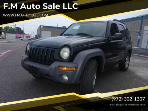 2004 Jeep Liberty for sale at F.M Auto Sale LLC in Dallas TX
