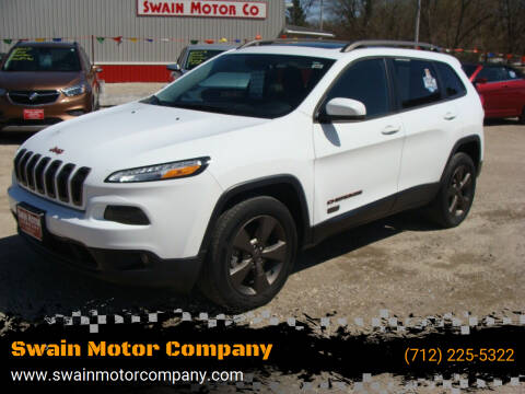 2016 Jeep Cherokee for sale at Swain Motor Company in Cherokee IA