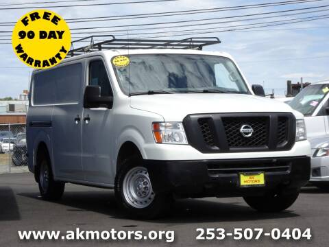 2016 Nissan NV Cargo for sale at AK Motors in Tacoma WA