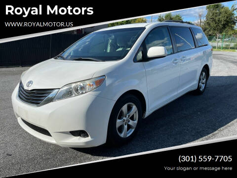 2011 Toyota Sienna for sale at Royal Motors in Hyattsville MD