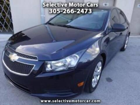 2014 Chevrolet Cruze for sale at Selective Motor Cars in Miami FL