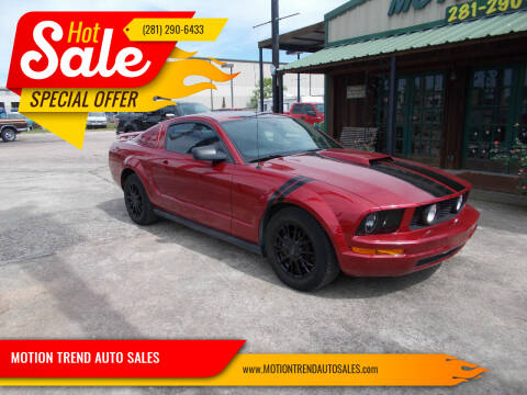 2007 Ford Mustang for sale at MOTION TREND AUTO SALES in Tomball TX