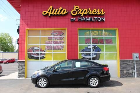 2013 Kia Rio for sale at AUTO EXPRESS OF HAMILTON LLC in Hamilton OH