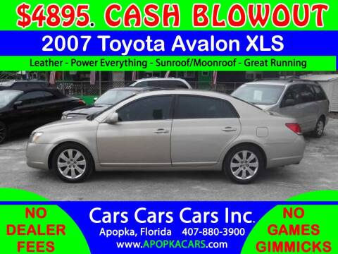 2007 Toyota Avalon for sale at CARS CARS CARS INC in Apopka FL