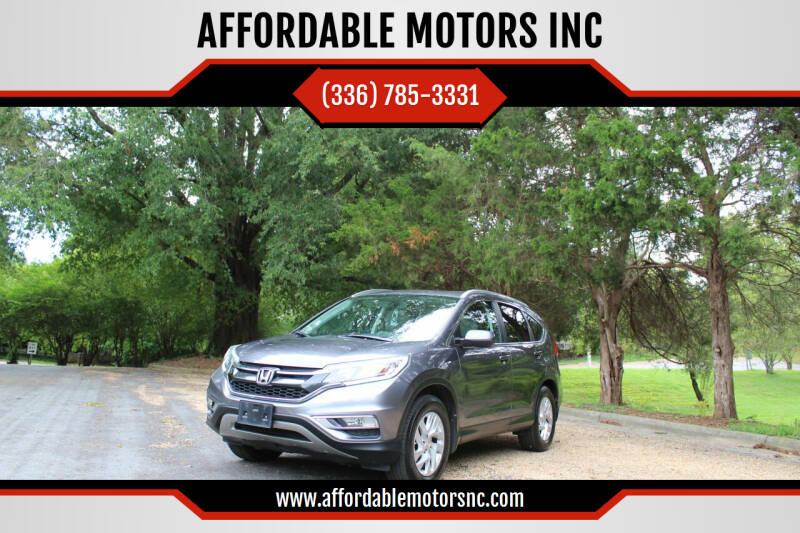 2015 Honda CR-V for sale at AFFORDABLE MOTORS INC in Winston Salem NC