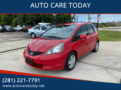 2013 Honda Fit for sale at AUTO CARE TODAY in Spring TX