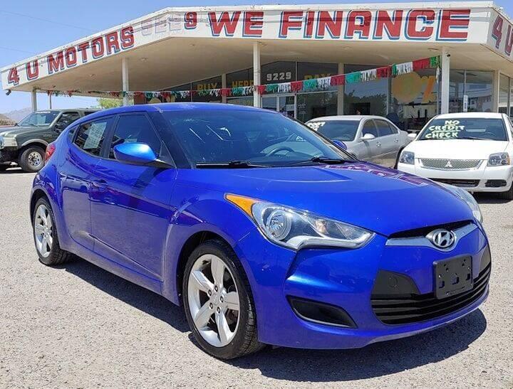 2015 Hyundai Veloster for sale at 4 U MOTORS in El Paso TX