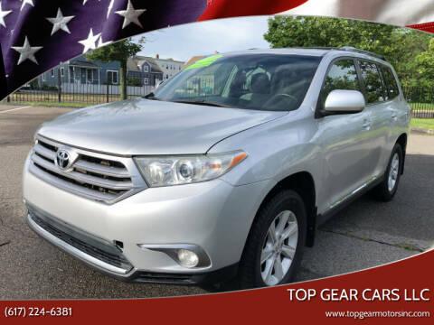 2013 Toyota Highlander for sale at Top Gear Cars LLC in Lynn MA