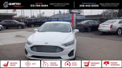2020 Ford Fusion for sale at Quattro Motors 2 - 1 in Redford MI