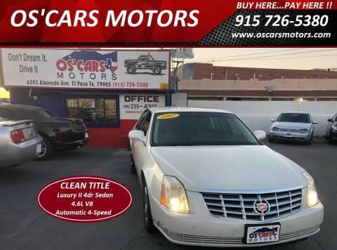 2007 Cadillac DTS for sale at Os'Cars Motors in El Paso TX