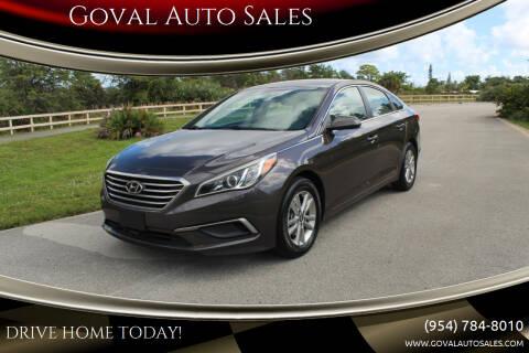 2017 Hyundai Sonata for sale at Goval Auto Sales in Pompano Beach FL