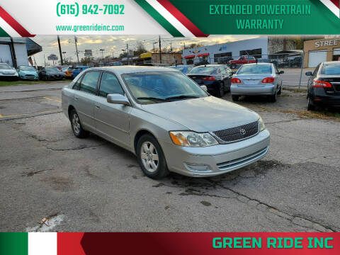 2001 Toyota Avalon for sale at Green Ride Inc in Nashville TN