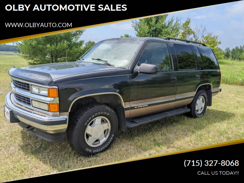 1998 Chevrolet Tahoe for sale at OLBY AUTOMOTIVE SALES in Frederic WI