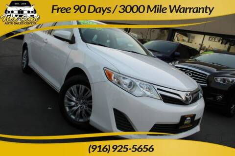 2014 Toyota Camry for sale at West Coast Auto Sales Center in Sacramento CA