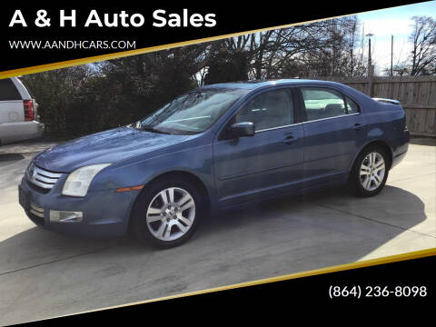 2009 Ford Fusion for sale at A & H Auto Sales in Greenville SC