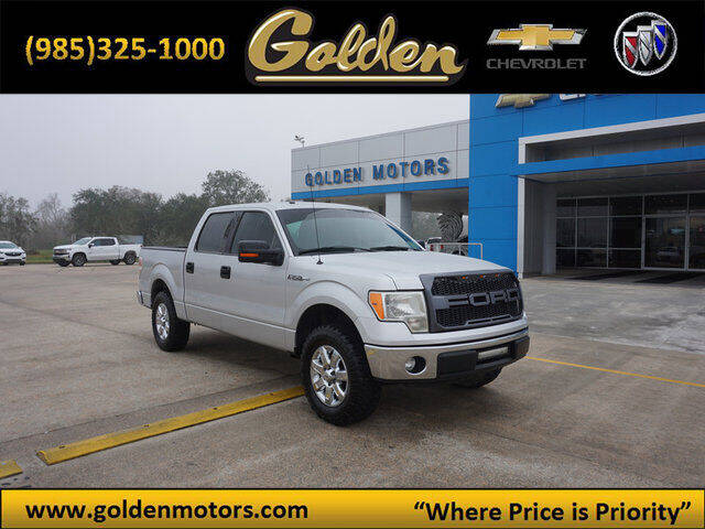 2012 Ford F-150 for sale at GOLDEN MOTORS in Cut Off LA