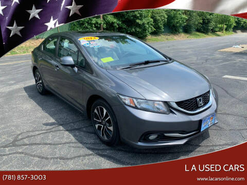 2013 Honda Civic for sale at L A Used Cars in Abington MA