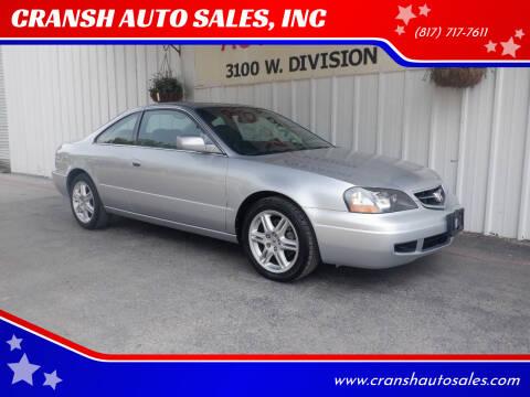 2003 Acura CL for sale at CRANSH AUTO SALES, INC in Arlington TX