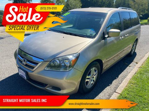 2007 Honda Odyssey for sale at STRAIGHT MOTOR SALES INC in Paterson NJ