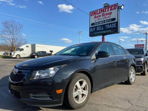 2014 Chevrolet Cruze for sale at Unlimited Auto Group in West Chester OH