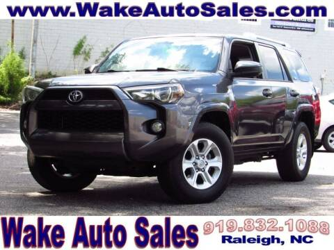 2016 Toyota 4Runner for sale at Wake Auto Sales Inc in Raleigh NC