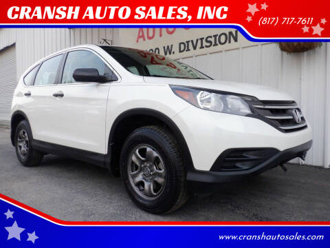 2014 Honda CR-V for sale at CRANSH AUTO SALES, INC in Arlington TX