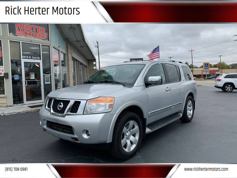 2011 Nissan Armada for sale at Rick Herter Motors in Loves Park IL