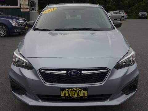 2017 Subaru Impreza for sale at MOUNTAIN VIEW AUTO in Lyndonville VT