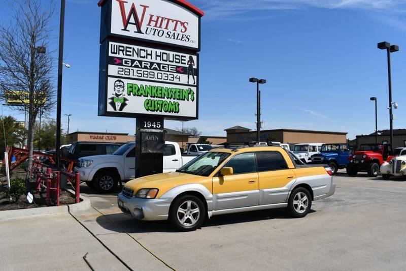 2003 Subaru Baja for sale at WHITT'S AUTO SALES, LLC in Houston TX