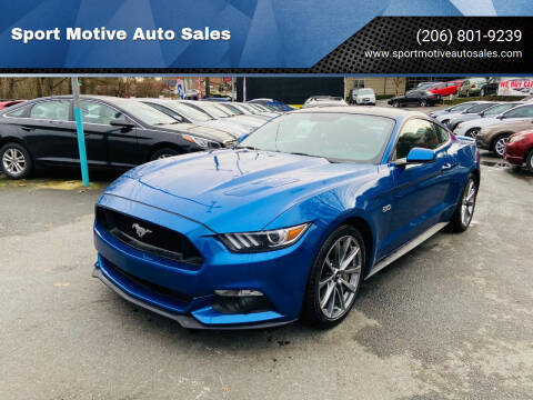 2017 Ford Mustang for sale at Sport Motive Auto Sales in Seattle WA