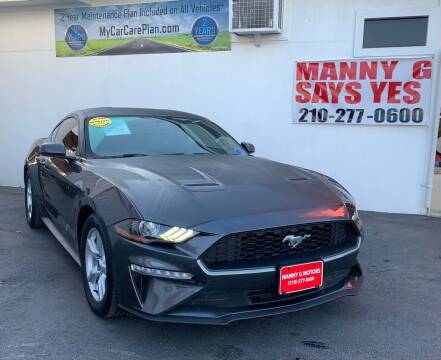 2018 Ford Mustang for sale at Manny G Motors in San Antonio TX