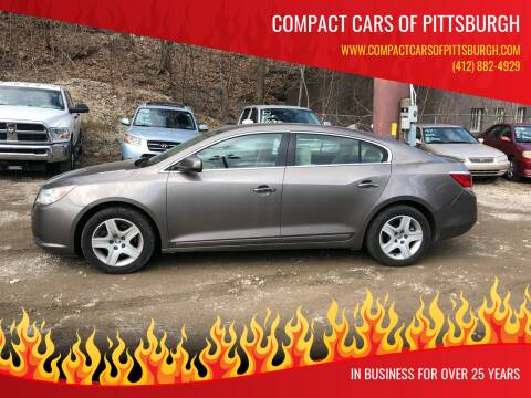 2011 Buick LaCrosse for sale at Compact Cars of Pittsburgh in Pittsburgh PA