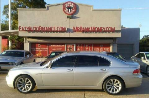 2008 BMW 7 Series for sale at Eazy Auto Finance in Dallas TX
