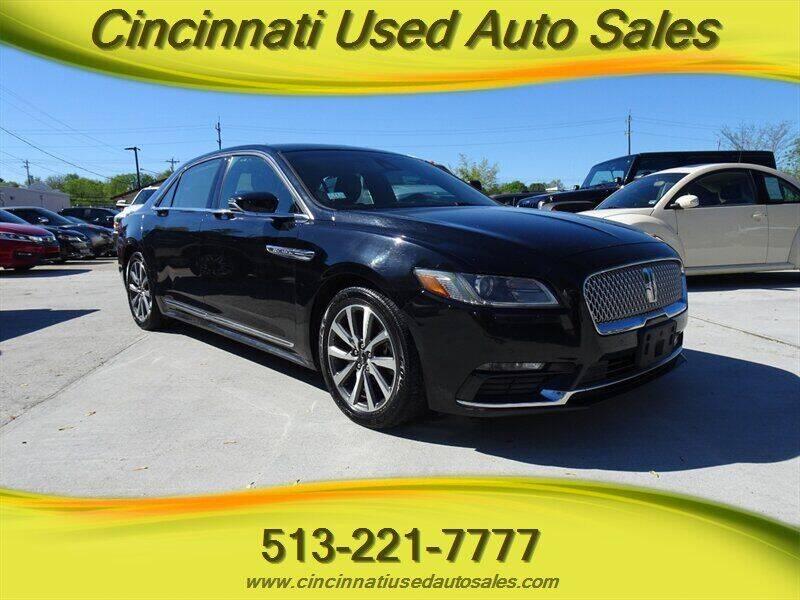 2017 Lincoln Continental for sale at Cincinnati Used Auto Sales in Cincinnati OH