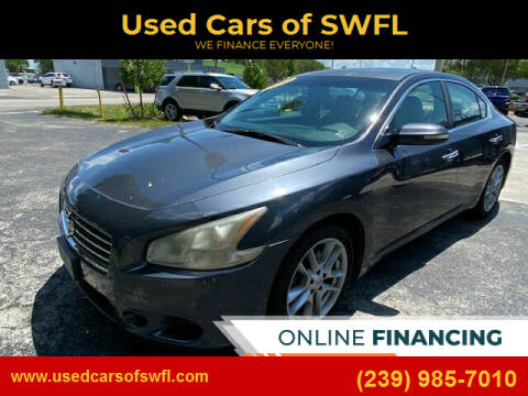 2010 Nissan Maxima for sale at Used Cars of SWFL in Fort Myers FL
