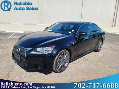 2013 Lexus GS 350 for sale at Reliable Auto Sales in Las Vegas NV