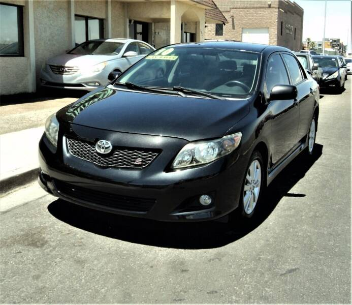 2010 Toyota Corolla for sale at DESERT AUTO TRADER in Las Vegas NV