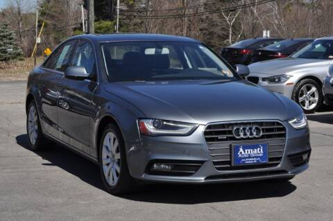2013 Audi A4 for sale at Amati Auto Group in Hooksett NH