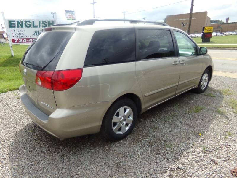 2006 Toyota Sienna for sale at English Autos in Grove City PA