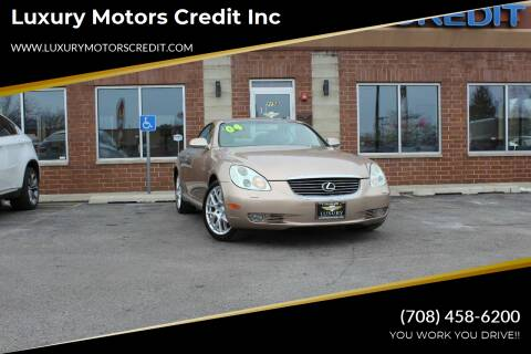 2004 Lexus SC 430 for sale at Luxury Motors Credit Inc in Bridgeview IL