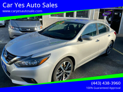 2017 Nissan Altima for sale at Car Yes Auto Sales in Baltimore MD