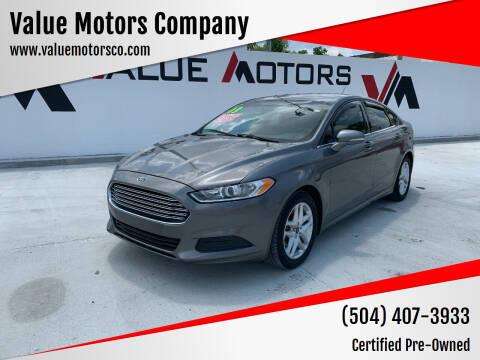 2013 Ford Fusion for sale at Value Motors Company in Marrero LA