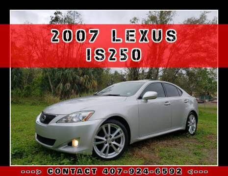 2007 Lexus IS 250 for sale at AFFORDABLE ONE LLC in Orlando FL