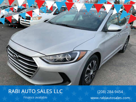 2017 Hyundai Elantra for sale at RABI AUTO SALES LLC in Garden City ID