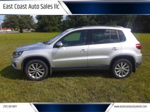 2015 Volkswagen Tiguan for sale at East Coast Auto Sales llc in Virginia Beach VA